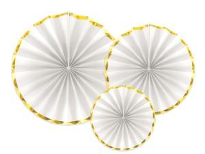 Rozety dekoracyjne - Rozety dekoracyjne, białe / średnica 23,32 i 40 cm