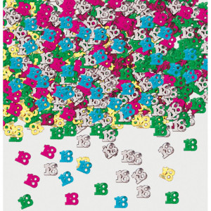 """Konfetti cyfry i liczby - Konfetti metalizowane """"18"""", mix"""