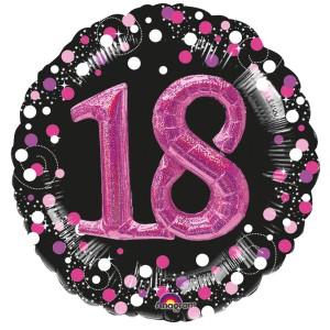 """Balony foliowe z cyframi i liczbami - Balon foliowy Multi na """"18 urodziny"""" /  81 cm"""