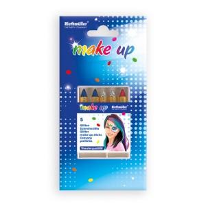 Kredki do makijażu - Zestaw do malowania twarzy - kredki brokatowe / 5713