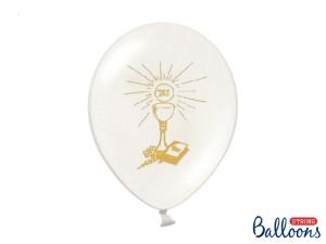 Balony komunijne - Balony Komunijne lateksowe na I Komunię Świętą, Kielich-Pure White