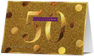 Zaproszenia na rocznicę - Zaproszenia na 50 Rocznicę Ślubu / Z.STAR-27