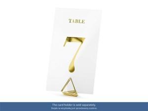 Numery na stół - Numery na stoły gości transparentne ze złotym nadrukiem / 7x12cm