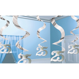 """Girlandy cyfry i liczby - Spiralki """"25 Rocznica Ślubu"""""""