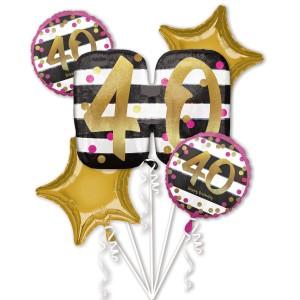 Zestawy balonów na urodziny dorosłych - Zestaw balonów na 40 urodziny / 3717301