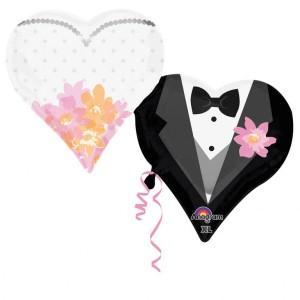 Balony na ślub foliowe