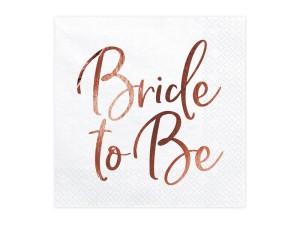"""Nakrycia stołu na Wieczór Panieński - Serwetki """"Bride to Be"""" / SP33-76-019R"""