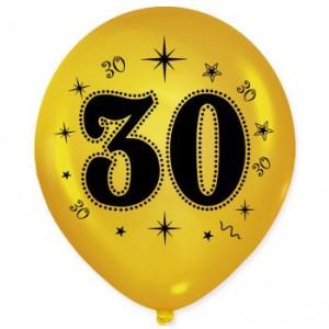 Balony lateksowe na okrągłe urodziny - Balony na 30 urodziny / BAL32/6