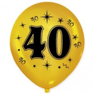 Balony lateksowe na okrągłe urodziny - Balony na 40 urodziny / BAL34