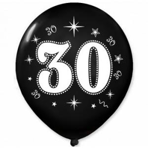 Balony lateksowe na okrągłe urodziny - Balony na 30 urodziny / BAL31/6