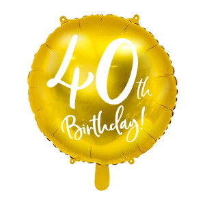 Balony na 40 urodziny