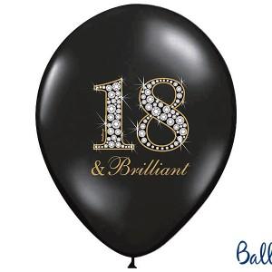 Balony lateksowe na 18 urodziny