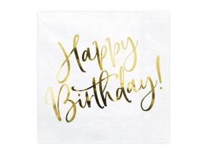 """Serwetki papierowe z napisami - Serwetki """"Happy Birthday"""" / SP33-79-008-019"""