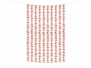 Kurtyny foliowe - Dekoracja - foliowa kurtyna na drzwi - fotościanka Kwiatki, różowe złoto / 100x210 cm