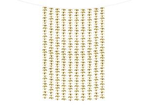 Kurtyny foliowe - Dekoracja - foliowa kurtyna na drzwi - fotościanka Kwiatki, złota / 100x210 cm