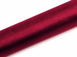 Organzy gładkie - 16 cm - Organza gładka, czerwone wino / 0,16x9 m