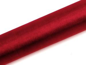 Organzy gładkie - 16 cm - Organza gładka, czerwona / 0,16x9 m