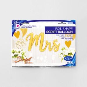 """Napisy z balonów foliowych na powietrze - Balon foliowy napis """"Mrs"""" / 112 cm"""