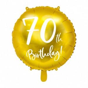 Balony foliowe na 70 urodziny