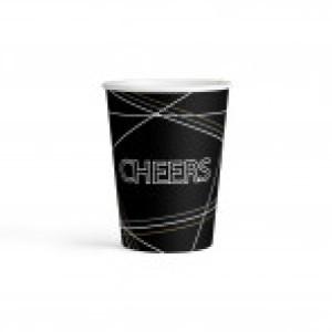 """Kubeczki z napisami papierowe - Kubeczki papierowe Elegant Wishes """"Cheers"""" / 250 ml"""
