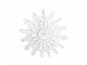 """Dekoracje papierowe - Rozeta """"Śnieżynka"""" / 37 cm"""