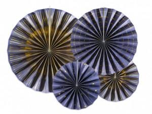 Rozety dekoracyjne - Rozety dekoracyjne, granatowe / średnica 23,32 i 40 cm