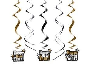 """Girlandy napisy - Świderki dekoracyjne """"Happy New Year"""""""