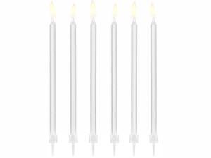 Świeczki proste - Świeczki urodzinowe na tort, białe