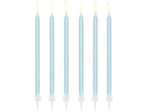 Świeczki proste - Świeczki urodzinowe na tort, błękitne
