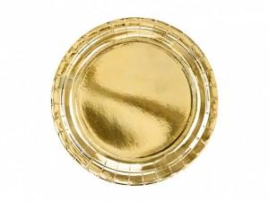 Talerzyki jednokolorowe - Talerzyki papierowe złote / TPP58-019ME