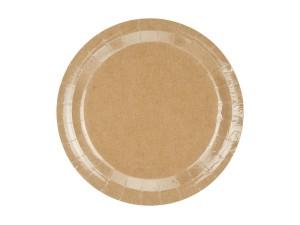 Talerzyki jednokolorowe - Talerzyki papierowe eko, kraft / TPP36-031