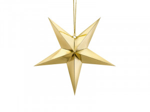 Gwiazdy wiszące - Złota gwiazda świąteczna / 45 cm