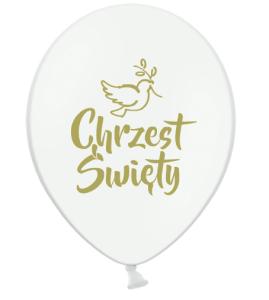 Balony na Chrzest Święty - Balony lateksowe na Chrzest Święty / B105-CHG05-002