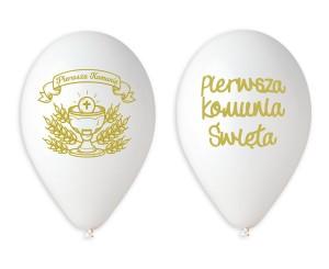 """Balony komunijne - Balony Komunijne lateksowe """"Pierwsza Komunia Święta"""" / GS120/PKN"""