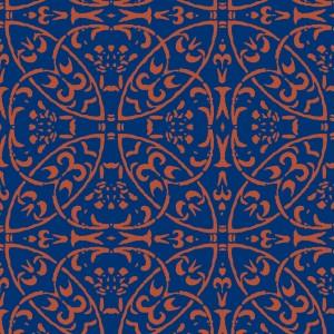 """Bieżniki flizelinowe wzorzyste - Bieżnik flizelinowy wzorzysty """"Claudio"""", granatowo-brązowy / 40cmx24m"""