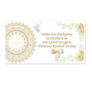 Bileciki, karteczki i naklejki - Podziękowania Komunijne dla Gości na Pierwszą Komunię Świętą / PDG24