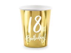"""Kubeczki papierowe z cyframi i liczbami - Kubeczki papierowe na 18 urodziny """"18th Birthday"""""""