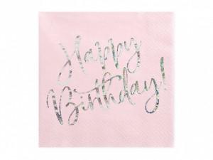 """Serwetki papierowe z napisami - Serwetki """"Happy Birthday"""" / SP33-80-081PJ"""