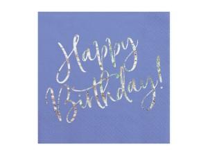 """Serwetki papierowe z napisami - Serwetki papierowe """"Happy Birthday"""" / SP33-80-074"""