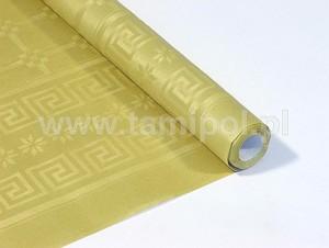 Obrusy jednokolorowe papierowe - Obrus papierowy w rolce, złoty / 1,18x5m
