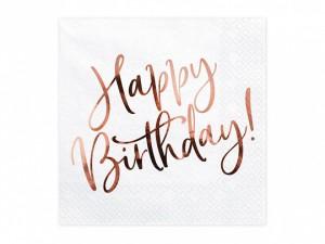 """Serwetki papierowe z napisami - Serwetki """"Happy Birthday"""" / SP33-79-008-019R"""