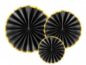 Rozety dekoracyjne - Rozety dekoracyjne, czarne / średnica 23,32 i 40 cm