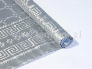 Obrusy jednokolorowe papierowe - Obrus papierowy w rolce, srebrny / 1,18x5m
