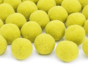 Pomponiki pluszowe - Pompony pluszowe, żółte