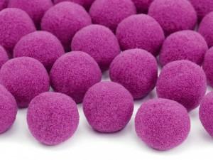 Pomponiki pluszowe - Pompony pluszowe, różowe