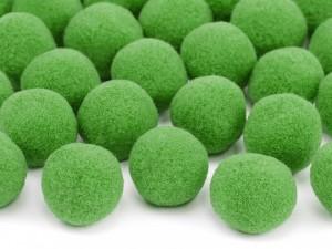 Pomponiki pluszowe - Pompony pluszowe, zielone