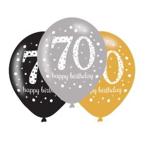 Balony lateksowe na 70 urodziny