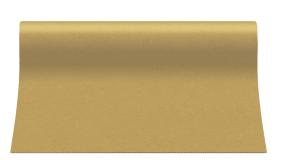 """Bieżniki flizelinowe gładkie - Bieżnik flizelinowy gładki AIRLAID """"Basic"""", złoty / 40cmx24m"""