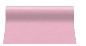 """Bieżniki flizelinowe gładkie - Bieżnik flizelinowy AIRLAID """"Basic"""", jasny róż / 40cmx24m"""