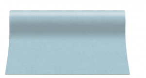 """Bieżniki flizelinowe gładkie - Bieżnik flizelinowy gładki AIRLAID """"Basic"""", błękitny / 40cmx24m"""